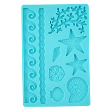 Good Silicone Mold Shell Fondant Cake Decorate Chocolate Icing Sugarcraft Mould