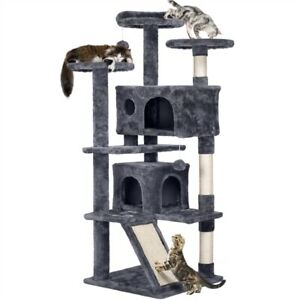"""55"""" Cat Tree Tower Condo Furniture Scratching Scratch Post Pet Kitty Play House"""