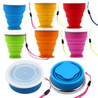 Portable Silicone Telescopic Drinking Collapsible Folding Cup Travel Camping NEW