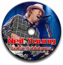 NEIL YOUNG FOLK COUNTRY ROCK GUITAR TAB TABLATURE SONG BOOK SOFTWARE CD