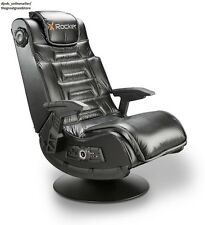Video Rocker Chair Gaming Game Seat Speaker Computer PC Pedestal Wireless Padded