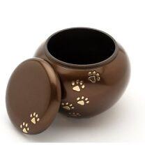 """York Brown 4"""" Cremation Ashes Medium Pet Urn"""