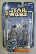 MOC 2002 STAR WARS ATTACK OF THE CLONES SP-4 & JN-66 RESEARCH DROIDS FIGURE SET