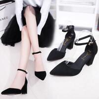 2017 Women Fashion Korean version Baotou Suede Pointed sandals In the high heels