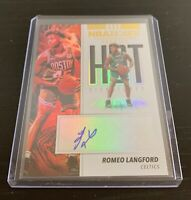 2019-20 Hoops Hot Signatures Romeo Langford Rookie Autograph Card - Celtics
