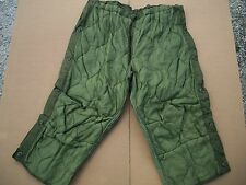 LOT OF 5 ARMY Military Surplus Insulated Thermal Hunting TROUSER PANTS LINER LRG