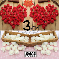 3cm Red & White Roses for Valentine's Day Date Party Decor Flowers Free P&P UK
