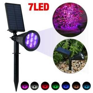 Waterproof 7 LED Solar Panel Power Flood Lights Garden Yard Lawn Wall Spot light