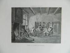 ancienne gravure peinture CORNEILLE TROOST école Flamande Corps de Garde 1867