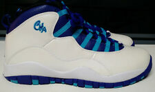 AIr Jordan Retro 10 X Size 11 Charlotte White Concord Blue Black Shoe 310805-107