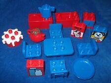 Lego Duplo Puppenhaus Küche Rot Blau Herd Spüle Tisch Stühle Schrank Torte Kanne