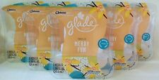 10 Glade Plugins Vanilla Merry Fun Scented Oil Limited Edition Refills Warmers