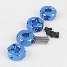 4x Blue Aluminum 6.0 Wheel Hex 12mm Drive With Pins&Screws HSP HPI RC Car