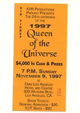 JUL1 1997 Drag Queen of the Universe Party Los Angeles  3x6 VIP Ticket