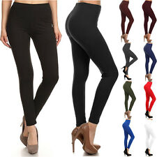 Buttery Soft Long Leggings Solid Plain Butter Womens Stretch Tall Curvy OS TC