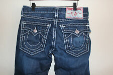Men TRUE RELIGION BRAND JEANS Billy Super T 34 x 28 Baggy Flap Pocket Blue Denim