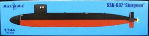 MikroMir Models 1/144 AMERICAN SSN-637 STURGEON NUCLEAR SUBMARINE