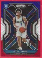2020-21 Prizm Josh Green Rookie Red-White-Blue Prizm CRC #274 Dallas Mavericks