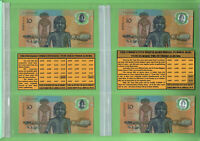 #T317.    TEN 1988  AUSTRALIAN  $10  POLYMER BANKNOTES  INVESTMENT PORTFOLIO