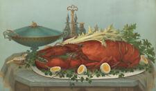 "stunning oil painting handpainted on canvas "" Lobster, Eggs, Celery "" N15806"