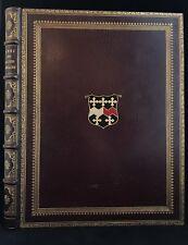 Gorgeous Stikeman Folio Binding Genealogy Illuminated Titles Manuscript painted