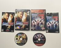 WWE Smackdown Vs. Raw 2009 & Smackdown Vs. Raw 2011 COMPLETE!! Playstation 2 PS2