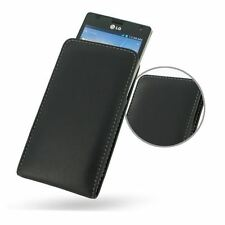 Pdair Leather Vertical Pouch Case for LG Optimus 4X HD P880 - Black