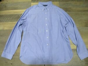 Ralph Lauren Sz XXL Men's Blue 1 Pocket Long Sleeved Button Up Dress Shirt XXL