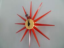 Modern Design Retro Red Star Sunburst Wall Clock George Nelson Replica
