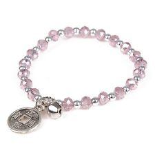 Fashion Women Bohemian Glass Crystal Beads Beaded Bracelet Alloy Charms Stretch