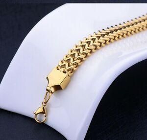 Stainless Steel Bracelets Solid Curb Figaro Snakes King-Bracelet Men's Women's
