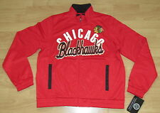 CHICAGO BLACKHAWKS NHL TEAM TRACK JACKET WOMEN'S LARGE - FULL ZIPPER FRONT