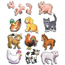 Wooden Puzzles - Farm Animal 3 PC - Set of 10 TPMS-006 Tuzzles Made in Australia