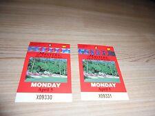 2 1999 Masters Practice Round Badge Augusta National Golf Ticket Jose Olazabal