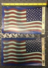 (2) Artscapes American Flag 9 inch Decals Patriotic Perfect for Glass!
