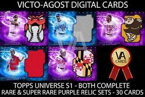 Topps Bunt Universe S1 BOTH RARE & SUPER RARE RELIC SETS - 30 Cards [BUNT APP]