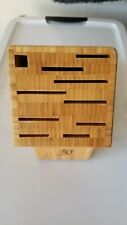 Shun 9-Slot Professional Knife Block In Bamboo
