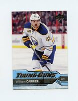 16/17 UPPER DECK YOUNG GUNS ROOKIE RC #454 WILLIAM CARRIER SABRES *29480