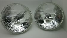 "7"" Round""LUCAS"" Style ""HALOGEN"" High Power Headlights (Pair) Holden Torana XU1"
