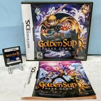 Golden Sun: Dark Dawn (Nintendo DS, 2010) with Case & Manual - Tested & Working