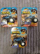 Lot Of 3 Hot Wheels 2019 Monster Trucks BIGFOOT 1:64 w/Connect and Crash Car