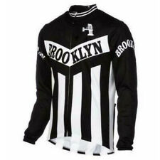 Mens Thermal Fleece / Polyester Brooklyn  cycling jersey Long sleeve