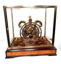 24K Fusee RARE Great Front Wheel Skeleton Clock