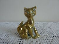 """Vintage Peerage Brass Grinning Cheshire Cat Candle Holder 3.5"""" High"""