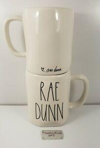 1x Rae Dunn Signature Mug RAE DUNN (double-sided) Cursive Font + Heart FREE SHIP