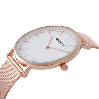 Fashion Classic Women's Men's Wrist Watch Mesh Strap Quartz Casual Dress Watches