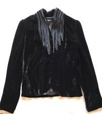 Tahari Velvet Jacket Black Size 4 Gorgeous Classy Soft Absolutely Stunning