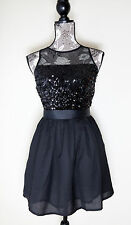 NEW Forever 21 Black Mini Sexy Sequined Straps Clubwear Dress Size L NWT LBD