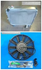 Full Aluminum Radiator for Toyota Surf Hilux 2.4 2.2 LN130 Turbo AT +16 inch Fan