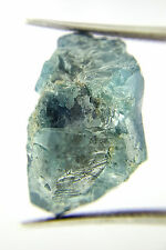 Very Rare 29.19TCW Greenish Blue Color Irregular Loose Natural Big Rough Diamond